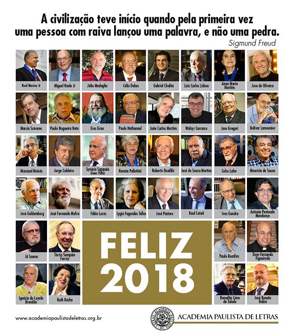 Cartão de natal APL contendo a imagem de todos os acadêmicos e votos de boas festas.